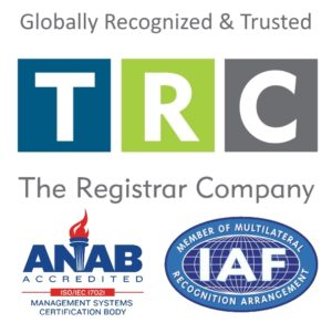 TRC Accredited Registrar: ISO 9001, ISO 14001, AS9100, AS9120, ISO 45001